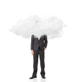 Homme d'affaires avec la tête dans les nuages Photos libres de droits