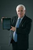 Homme d'affaires avec la tablette digitale Photo libre de droits