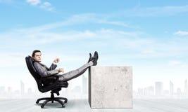Homme d'affaires avec la tasse Image libre de droits