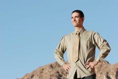 Homme d'affaires avec la visibilité Photographie stock libre de droits