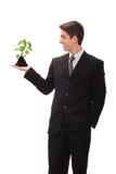 Homme d'affaires avec la visibilité Photo libre de droits