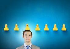 Homme d'affaires avec le canard Photos libres de droits