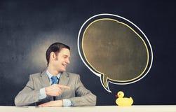 Homme d'affaires avec le canard Photo libre de droits