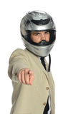 Homme d'affaires avec le casque Image libre de droits