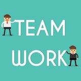Homme d'affaires avec le concept de travail d'équipe Concept d'affaires Image stock