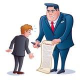 Homme d'affaires avec le contrat au signe Images libres de droits