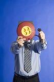 Homme d'affaires avec le cordon électrique Photographie stock