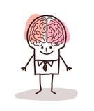 Homme d'affaires avec le grand cerveau illustration stock