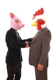 Homme d'affaires avec le masque Image libre de droits
