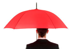 Homme d'affaires avec le parapluie Image libre de droits