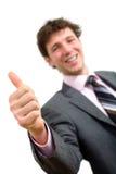Homme d'affaires avec le pouce vers le haut Images libres de droits