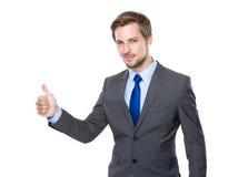 Homme d'affaires avec le pouce vers le haut Image stock