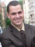 Homme d'affaires avec le sourire photos stock