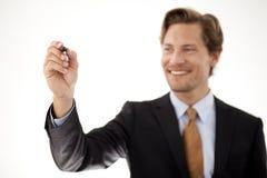 Homme d'affaires avec le stylo Photos libres de droits