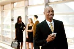 Homme d'affaires avec le téléphone Images stock