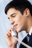 Homme d'affaires avec le téléphone Photos stock