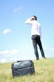 Homme d'affaires avec le téléphone Photo libre de droits