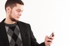 Homme d'affaires avec le téléphone Photographie stock libre de droits