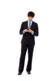 Homme d'affaires avec le téléphone intelligent Photo stock