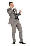 Homme d'affaires avec le téléphone portable Image stock