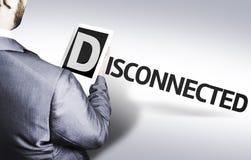 Homme d'affaires avec le texte déconnecté dans une image de concept photo libre de droits