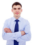 Homme d'affaires avec les bras croisés Image stock