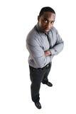 Homme d'affaires avec les mains pliées Photographie stock