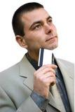 Homme d'affaires avec par la carte de crédit Images libres de droits