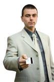 Homme d'affaires avec par la carte de crédit Photographie stock libre de droits