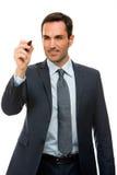 Homme d'affaires avec un marqueur noir Photos libres de droits