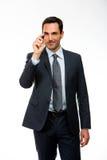 Homme d'affaires avec un marqueur noir Image stock