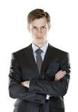 Homme d'affaires avec un regard sévère Photographie stock libre de droits