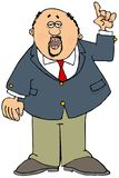 Homme d'affaires avec une barbichette se dirigeant  illustration stock