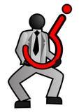 Homme d'affaires avec une incertitude Image libre de droits