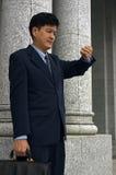 Homme d'affaires/avocat avec un rendez-vous Photos stock