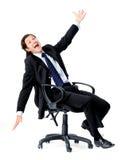 Homme d'affaires ayant l'amusement images libres de droits