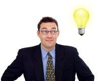 Homme d'affaires ayant une idée photos stock