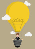Homme d'affaires Balloon Ideas illustration stock