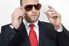 Homme d'affaires bel Images stock