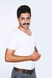 Homme d'affaires bel de moustache à la présentation Images stock