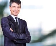 Homme d'affaires bel de sourire Photo stock
