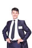 Homme d'affaires bel de sourire Images libres de droits