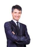Homme d'affaires bel de sourire Photos stock