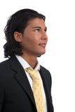 Homme d'affaires bel semblant excité au contrat à terme Photo libre de droits