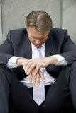 Homme d'affaires bouleversé Image stock