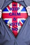 Homme d'affaires britannique Votes No Photographie stock libre de droits