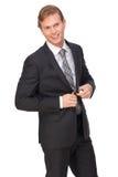 Homme d'affaires Buttoning Suit Jacket photos libres de droits