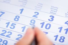 Homme d'affaires With Calendar Image stock