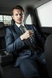 Homme d'affaires In The Car photo libre de droits