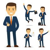 Homme d'affaires Cartoon Character Photos stock